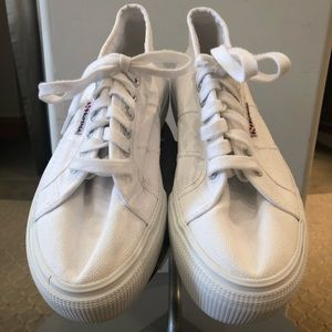 Superga Platform Tennis Shoes
